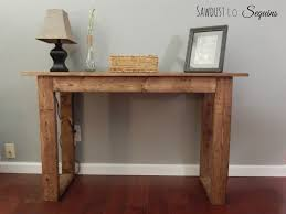 Diy Console Table Plans Console Table Buildsomething Com