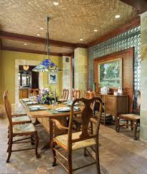 floor tile on wall dining room traditional with brick traditional