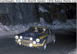 Fiat Abarth 131 Rally 1976 78 by Bobo Cambiaghi Rally Montecarlo 1976 Fiat Abarth 124 Rally Wrc
