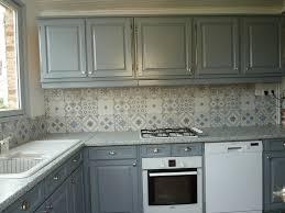 credence cuisine imitation du patchwork dans la cuisine crédence imitation carreaux de ciment