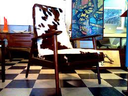 Faux Cowhide Chair Furniture Archaiccomely Cow Hide Lounge Chair Cool Stuff Houston