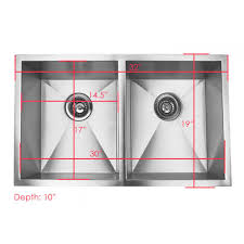Kitchen Sink Clip Art 32 Inch Stainless Steel Undermount 50 50 Double Bowl Kitchen Sink