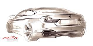 bmw concept 4 series coupe design sketch car body design