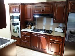 kitchen completion in mahogany kitchen cabinet refinishing finish