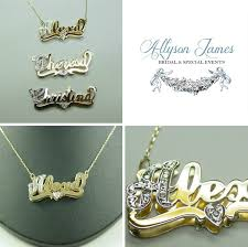 14k name necklace 14k solid gold layer diamond name necklace jewelry