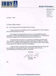 letters of recommendation u2013 consulting coach u2013 anderson corporate