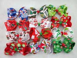 christmas hair bows christmas boutique hair bows happy holidays