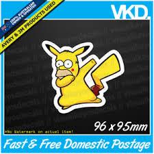 Funny Pikachu Memes - homerchu dabbing sticker decal dab funny meme spongebob vinyl
