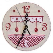 point de croix cuisine horloge de cuisine grille seule avec explications cartonnage