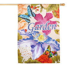 garden floral yard flag christmas tree shops andthat