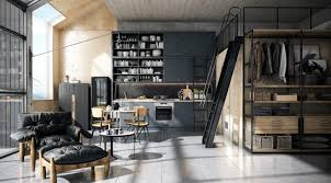 industrial kitchen ideas kitchen style modern industrial kitchen with family room