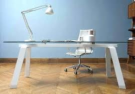 bureaux verre bureau ordinateur en verre bureau tokio 1 tiroir gris piatement en