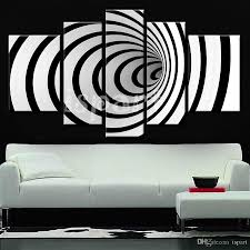 2017 back to the future modern design 3d black white wall art modern design 3d black white wall art paintings on canvas unique lines circle pop art picture for home decoration
