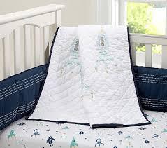 Rocket Ship Crib Bedding Finn Nursery Bedding Pbkids So Adorable For A Boy 3