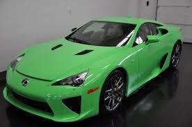 lexus green 2012 lexus lfa in fresh green for sale autofluence