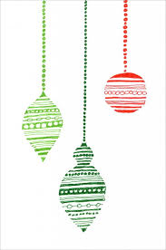 ornament card ornaments ornament and outlines