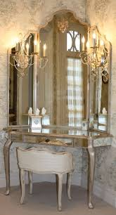 bedroom glamorous corner makeup vanity to give you maximum floor