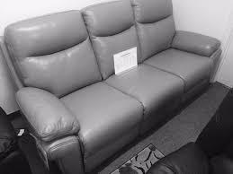 sofa in la z boy manual recliner 3 seat sofa in b grade grey