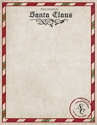 letters from santa claus letter from santa printable