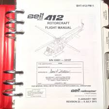 bell 412 helicopter flight manual ebay