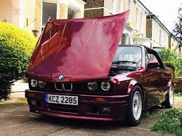 bmw e30 325i calypso red manual convertible superb condition