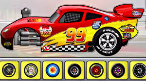 lightning mcqueen builds monster truck car car driving