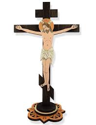 crucifix wall wooden laser cut standing wall cross with corpus crucifix at