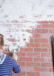 Pink Brick Wall German Smear German Schmear Faux Brick Wall Ella Claire