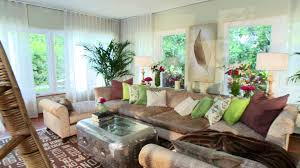 elegant home library interior design with white rattan peacock