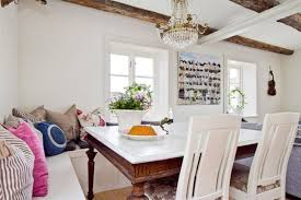 White Dining Room Bench by Simple Dining Room With Cahndelier White Marble Table And White