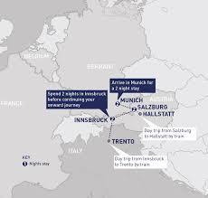 Italy Train Map Munich Salzburg And Innsbruck