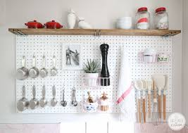 pegboard kitchen storage