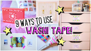 things to do with washi tape 9 ways to use washi tape youtube