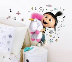 minions despicable 3 agnes unicorn wall decal multi simbashop nl minions despicable 3 agnes unicorn wall decal multi