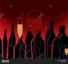 cocktail party silhouette alcoholic bottles background wine vector u0026 photo bigstock