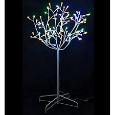 beautiful 6 multi color twig tree with black