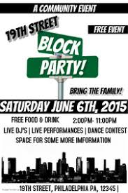 customizable design templates for block party postermywall