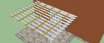 Attached Pergola Designs by How To Build A Pergola Attached To The House Diy Pinterest