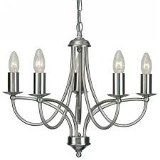 Chrome Pendant Light Fitting by 2711 5ac Loop 5 Light Chandelier In Antique Chrome