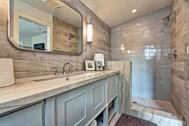 wood tile bathroom vanity flooring ideas completed cool white