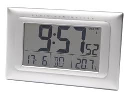 866424 balance radio controlled alarm wall clock digital