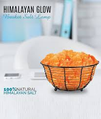 himalayan glow ionic crystal salt basket l basket salt l beautiful himalayan salt ls