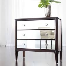 Mirrored Furniture For Bedroom by Furniture Astonishing Image Of 3 Drawer Mirrored Dresser And