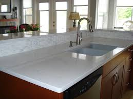 White Cabinets With Grey Quartz Countertops Attractive White Kitchen Countertops Granite Material Countertops