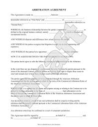 6 best images of sample arbitration agreement form sample hipaa