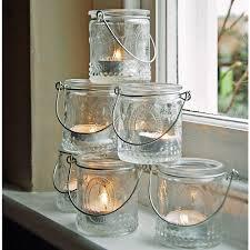 vintage tea light holders set 6 vintage glass tea light holders