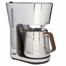 Coffee Maker With Grinder And Thermal Carafe Krups Silver Art 10 Cup Thermal Coffee Maker Kt600 J L Hufford