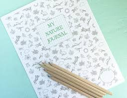 nature journal printable instant pdf download nature study