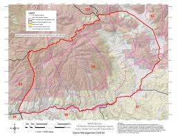 Elk Population Map Colorado Gmu 54 Hunting Map Map The Xperience Avenza Maps