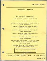 technical manual organizational maintenance repair parts special